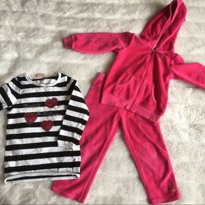 Girls Kids Juice Couture Track Set and Sweater 2T